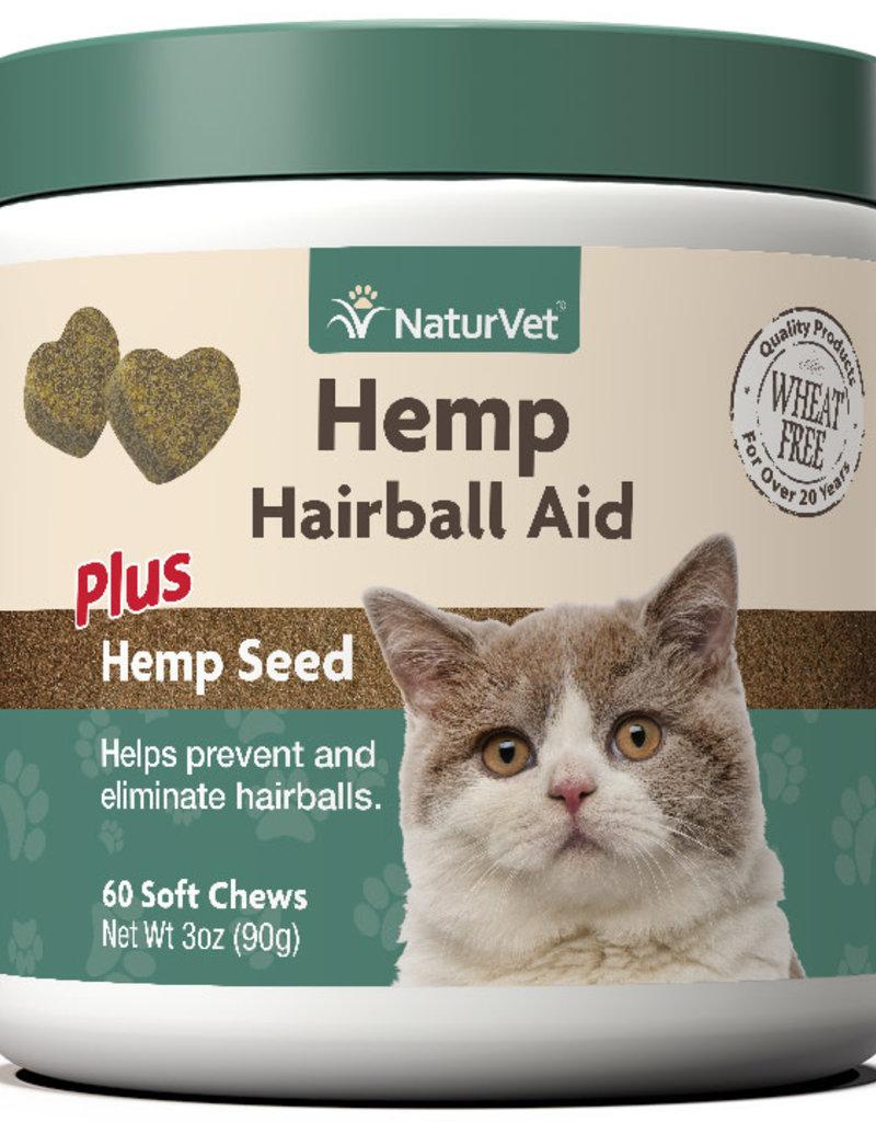 NaturVet NaturVet Cat Hemp Hairball Aid Soft Chew 60 ct