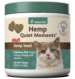 NaturVet NaturVet Cat Hemp Quiet Moment Soft Chew 60 ct