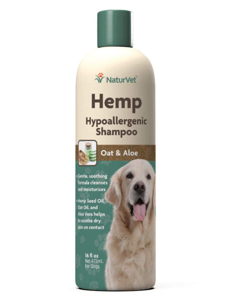 NaturVet NaturVet Dog Hemp Shampoo Hypoallergenic 16 oz