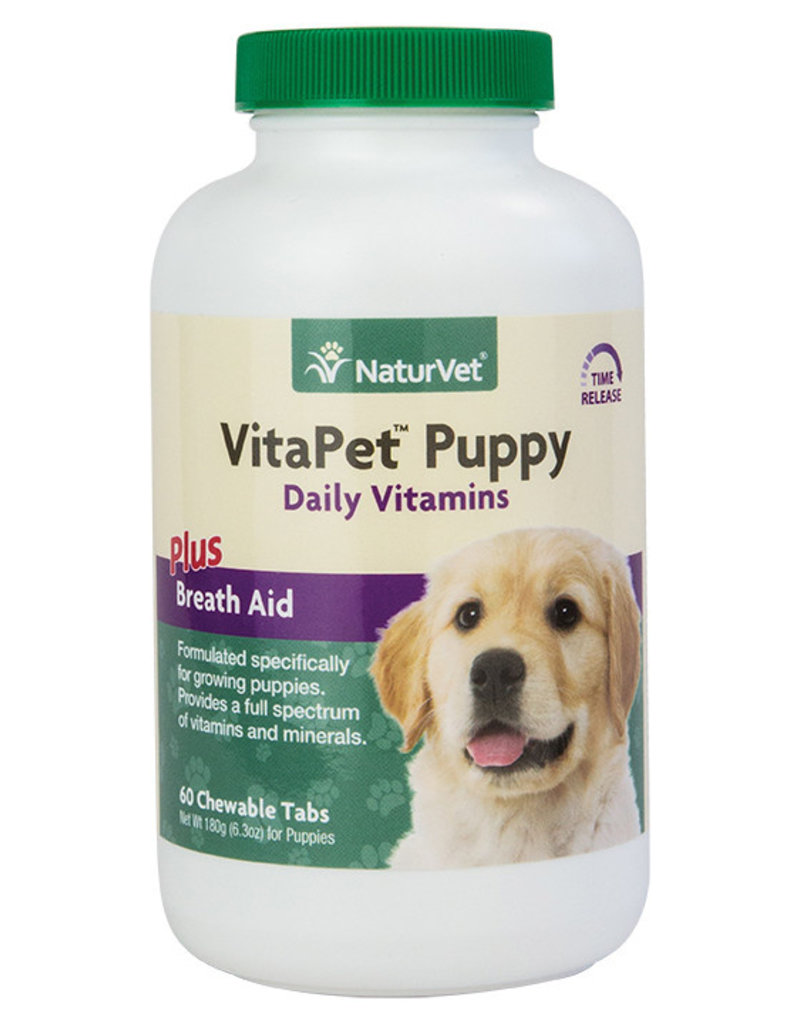 NaturVet NaturVet Dog VitaPet Puppy Daily Vitamins Chewable Tablets 60 ct