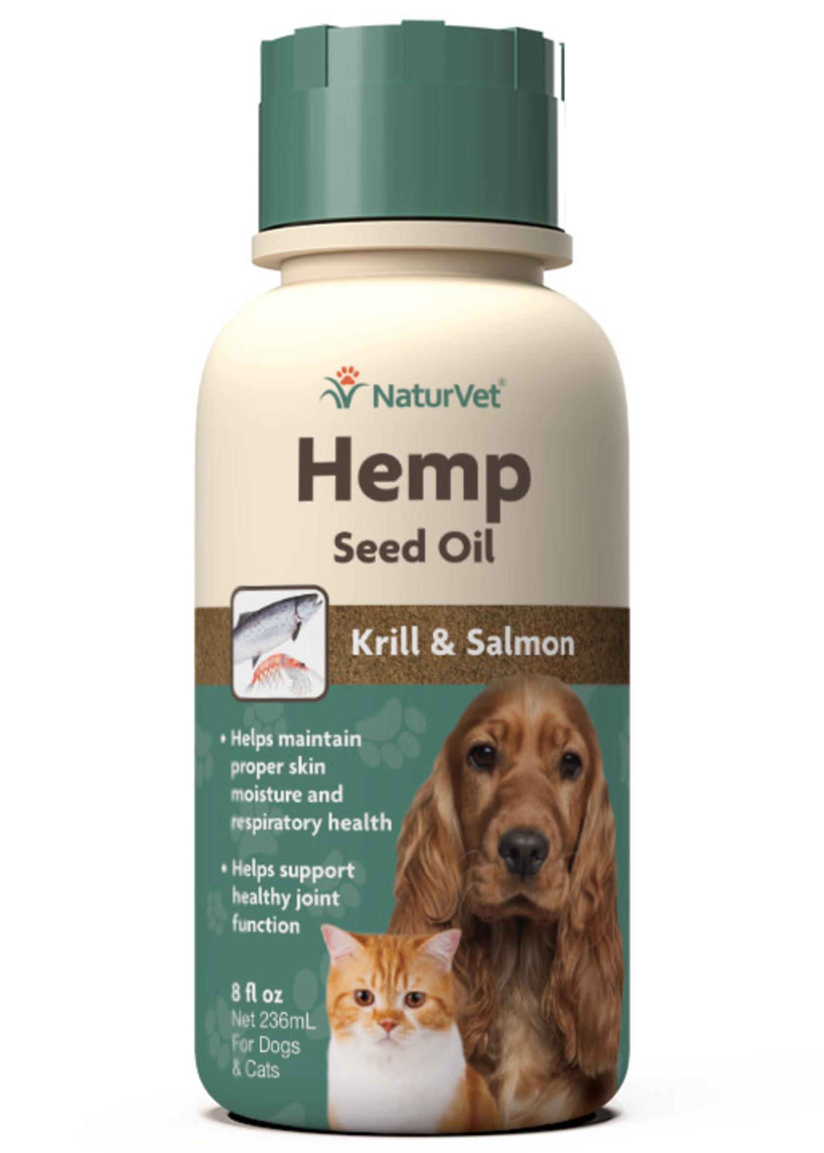 NaturVet NaturVet Cat/Dog Hemp Seed, Krill, & Salmon Oil