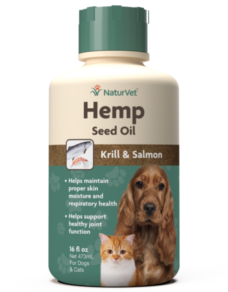 NaturVet NaturVet Cat/Dog Hemp Seed, Krill, & Salmon Oil