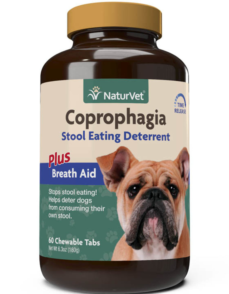 NaturVet NaturVet Dog Coprophagia Stool Eating Deterrent Chewable Tablets 60 ct