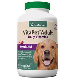 NaturVet NaturVet Dog VitaPet Adult Daily Vitamins Chewable Tablets