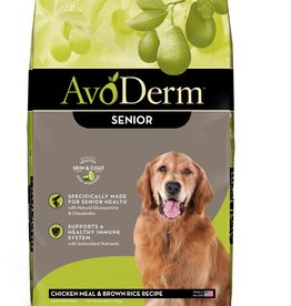 Breeder's Choice Pet Foods, Inc. AvoDerm Dog Dry Chicken and Rice Senior 26 lbs
