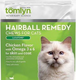 Tomlyn/Vetoquinol Products Tomlyn Cat Laxatone Chews Hairball Remedy 60 ct