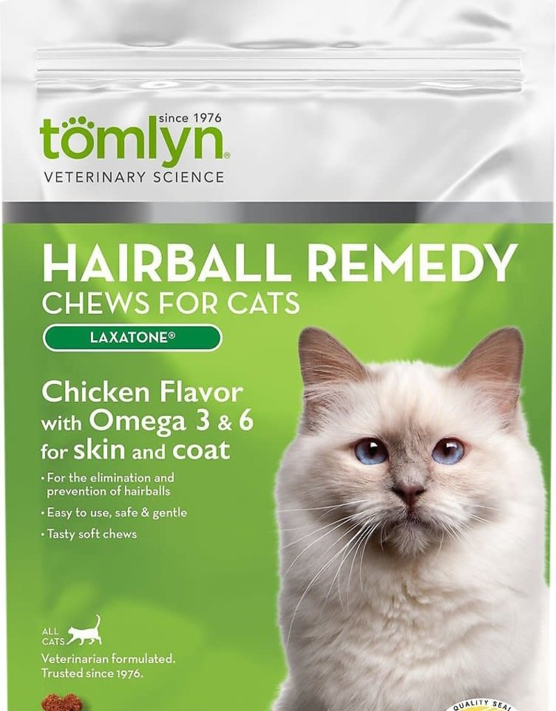 Tomlyn/Vetoquinol Products Tomlyn Cat Laxatone Chews Hairball Remedy 60 ct