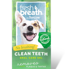 Tropiclean Manufacturing TropiClean Dog Fresh Breath Teeth Gel Kit 4 oz