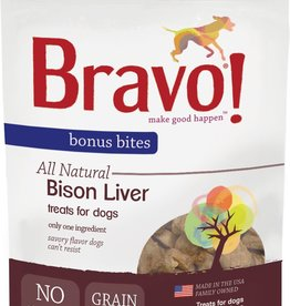 Bravo! Bravo! Dog Treat Freeze Dried Buffalo Livers 3 oz