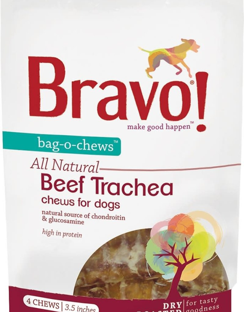 "Bravo! Bravo! Dog Treat Beef Trachea 3.5"""