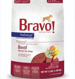 Bravo! Bravo! Dog Food Balance Frozen Beef Burgers 3 lbs