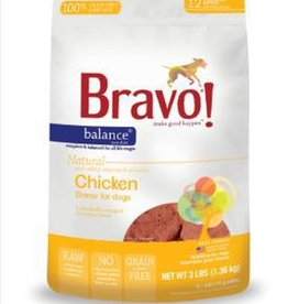Bravo! Bravo! Dog Food Balance Frozen Chicken Burgers 3 lb