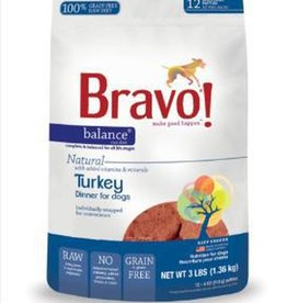 Bravo! Bravo! Dog Food Balance Frozen Turkey Burgers 3 lbs
