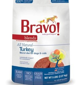 Bravo! Bravo! Dog Food Blends Frozen Turkey Burgers 5 lbs