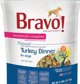 Bravo! Bravo! Dog Food Homestyle Complete Freeze Dried Turkey