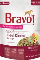Bravo! Bravo! Dog Food Homestyle Complete Freeze Dried Beef
