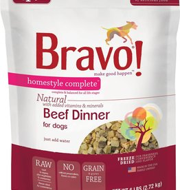 Bravo! Bravo! Dog Food Homestyle Complete Freeze Dried Beef