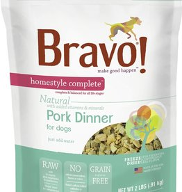 Bravo! Bravo! Dog Food Homestyle Complete Freeze Dried Pork