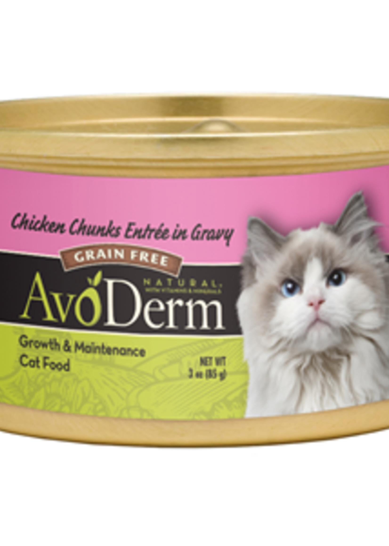 AvoDerm by Breeder's Choice AvoDerm Cat Can Chicken in Gravy 3 oz