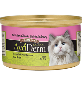 AvoDerm by Breeder's Choice AvoDerm Cat Can Chicken in Gravy 3 oz