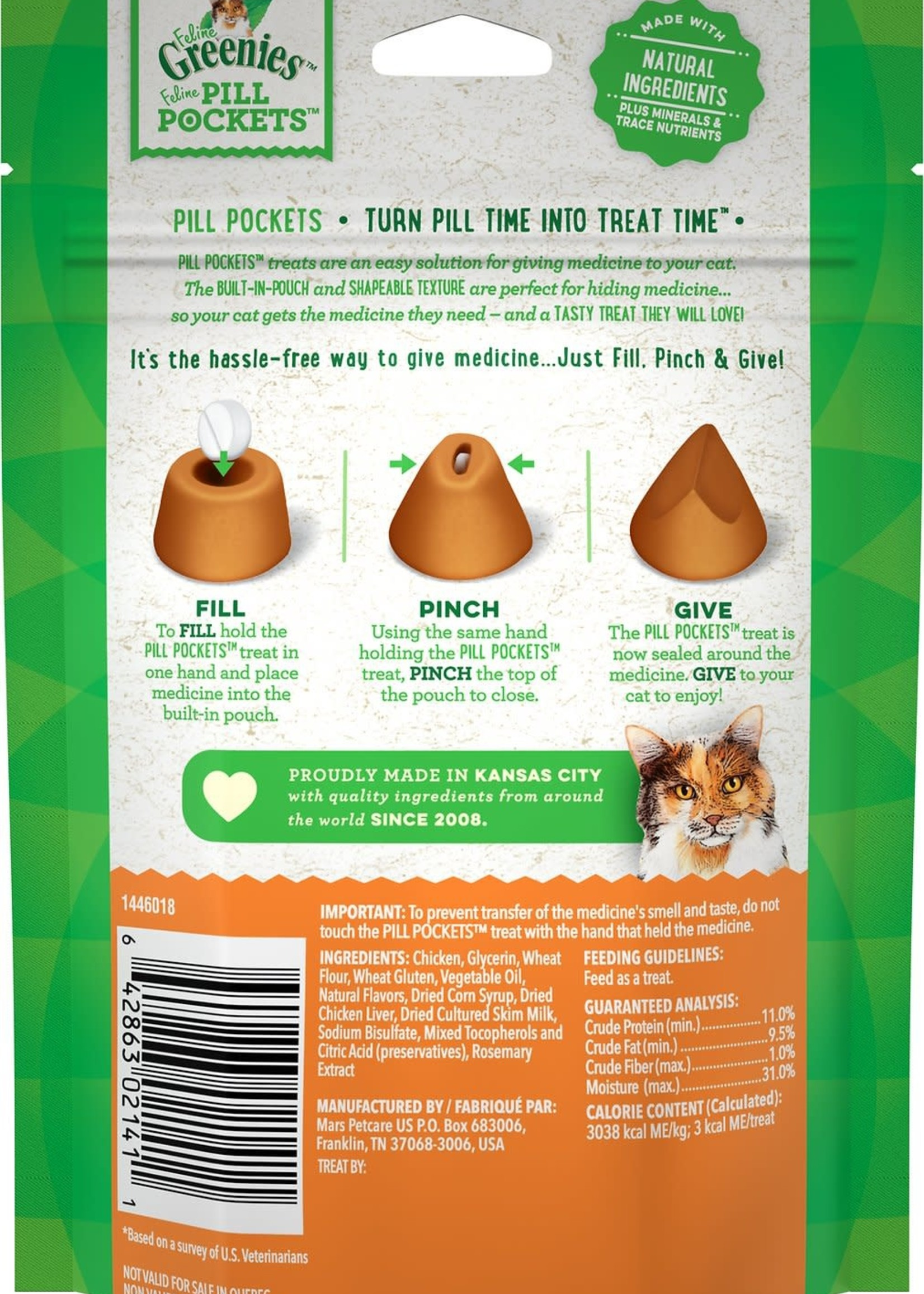 Greenies Greenies Cat Pill Pockets Chicken 1.6 oz