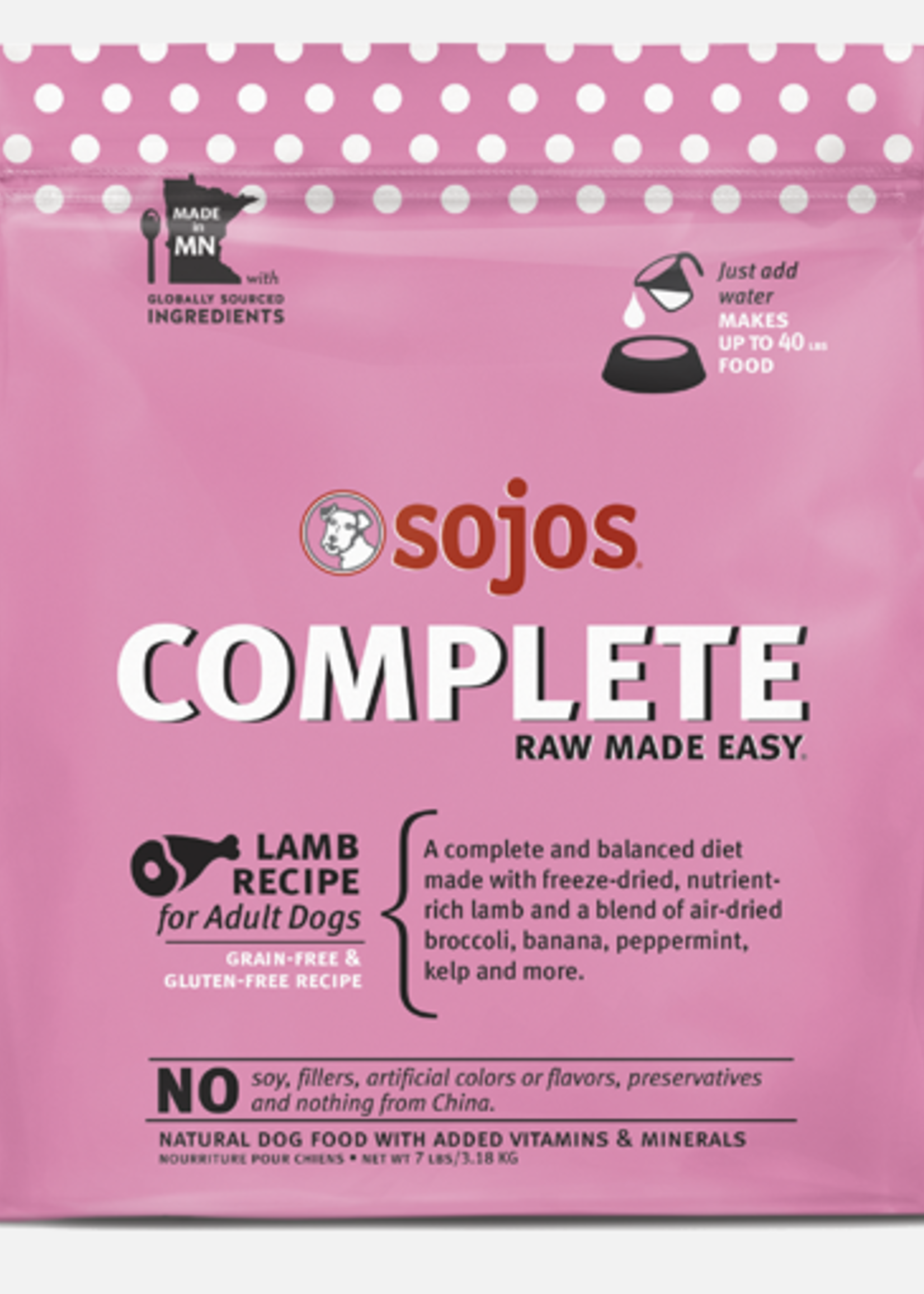 Sojo's Sojo's Dog Dehydrated Raw Complete Lamb