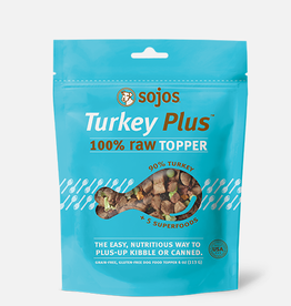 Sojo's Sojo's Dog Treat 100% Raw Topper Turkey Plus 4 oz