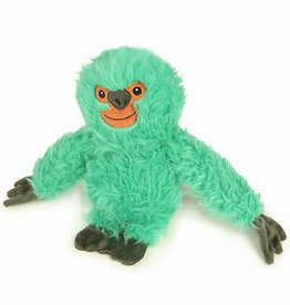 GO DOG GoDog Fuzzy Sloth with Chew Guard Technology Durable Plush Dog Toy, Teal, Large