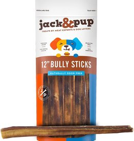 Jack and Pup Jack and Pup Dog Chew Bully Stick Odor Free Extra Thick 12""