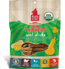 Plato Pet Treats - KDR Plato Mini Thinkers Organic Turkey & Squash 6oz