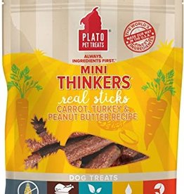 Plato Pet Treats - KDR Plato Mini Thinkers Turkey, Carrot, & PB 6oz