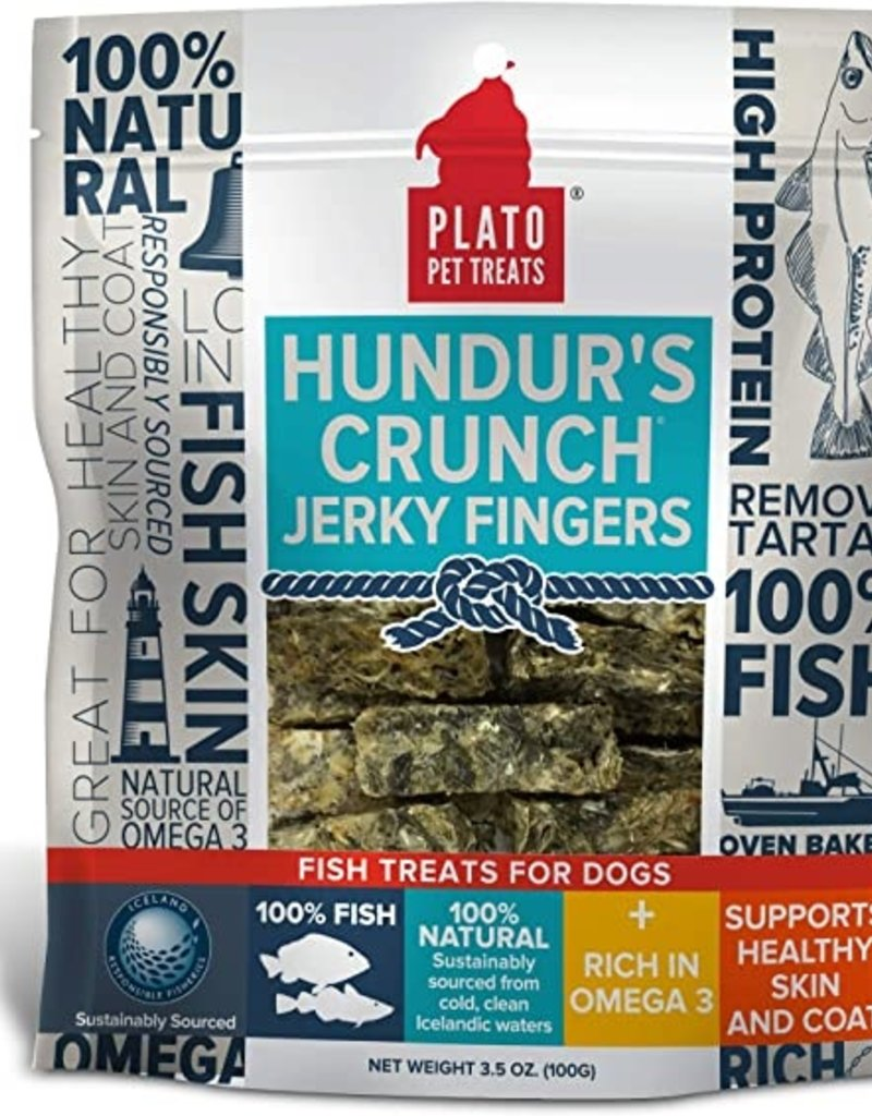 Plato Pet Treats - KDR Plato Hundur's Crunch Jerky Fingers 10oz