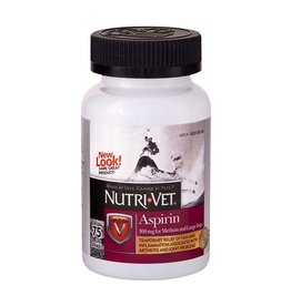 NUTRI-VET Nutri-Vet K9 Aspirin Liver Chewables Medium/Large Dog 75ct