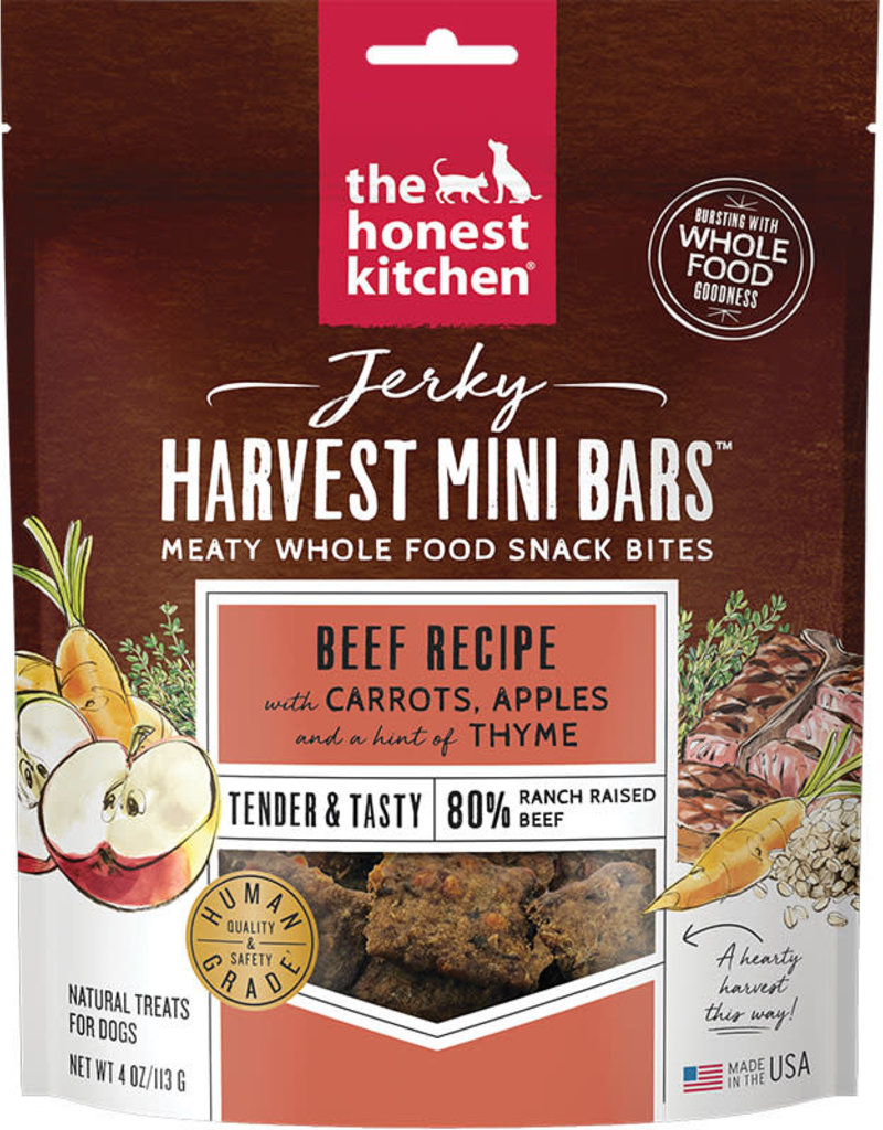 Honest Kitchen Honest Kitchen Beef Jerky Mini Harvest Bars 4oz