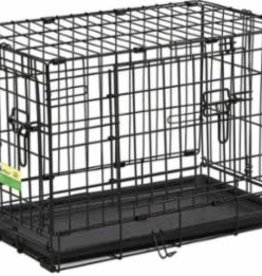 """MidWest Homes for Pets Midwest 24"""" ConTour Double Door Crate 24x18x19"""
