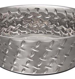 LOVING PETS CORP Loving Pets Ruff N Tuff Diamond Plate Bowls with Non Skid Bottom Dog Bowl 2qt