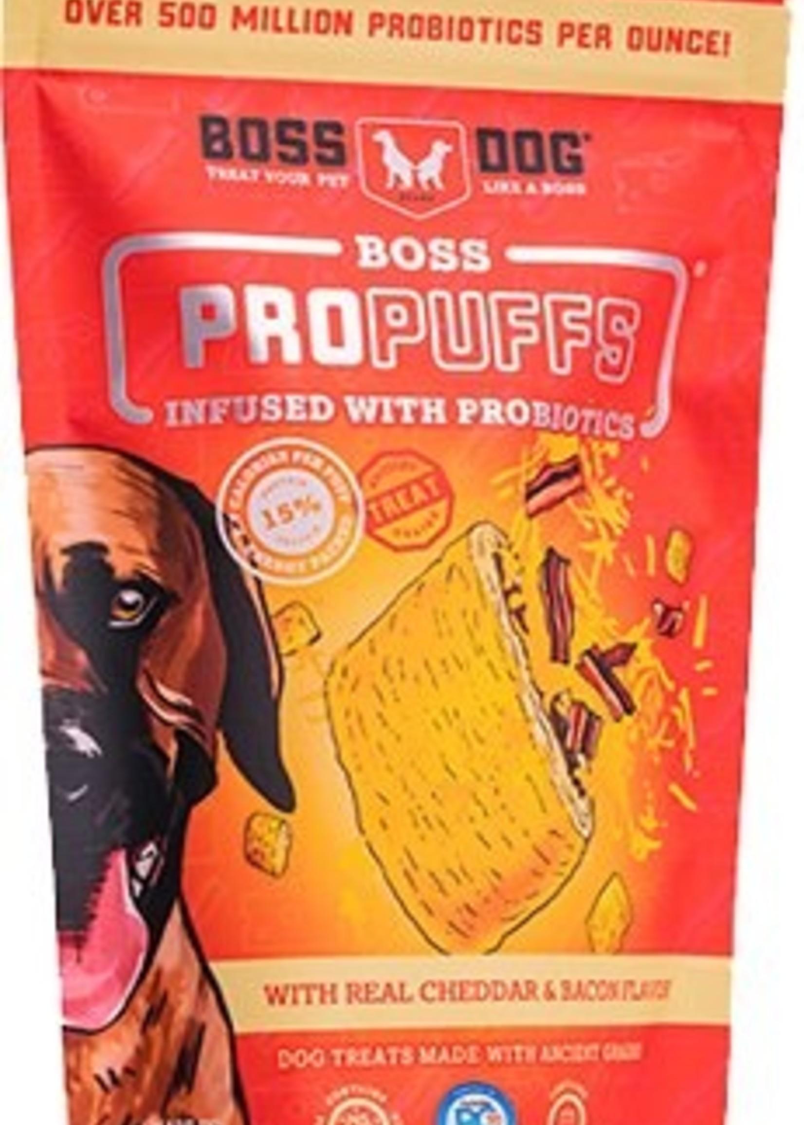 Boss Dog Boss Dog  Treats ProPuffs Cheddar/Bacon 6oz