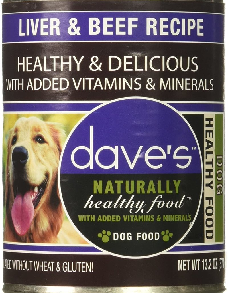 Dave's Pet Food Dave's Dog Can Naturally Healthy Liver/Beef 13oz
