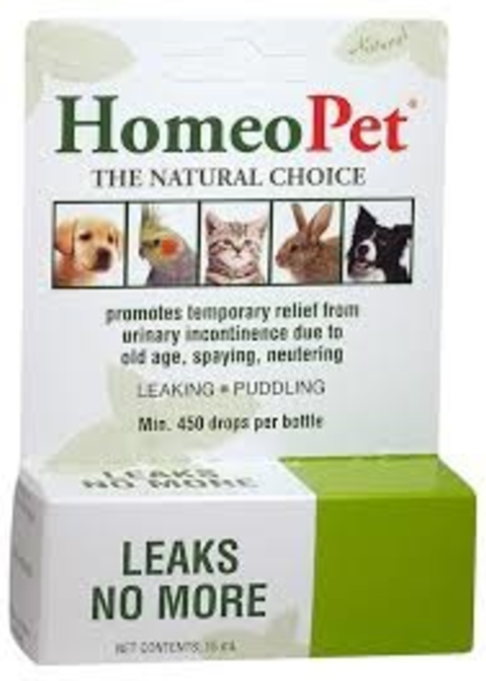 Homeopet LLC Homeo Pet Leaks No More K9/Fel 450drops