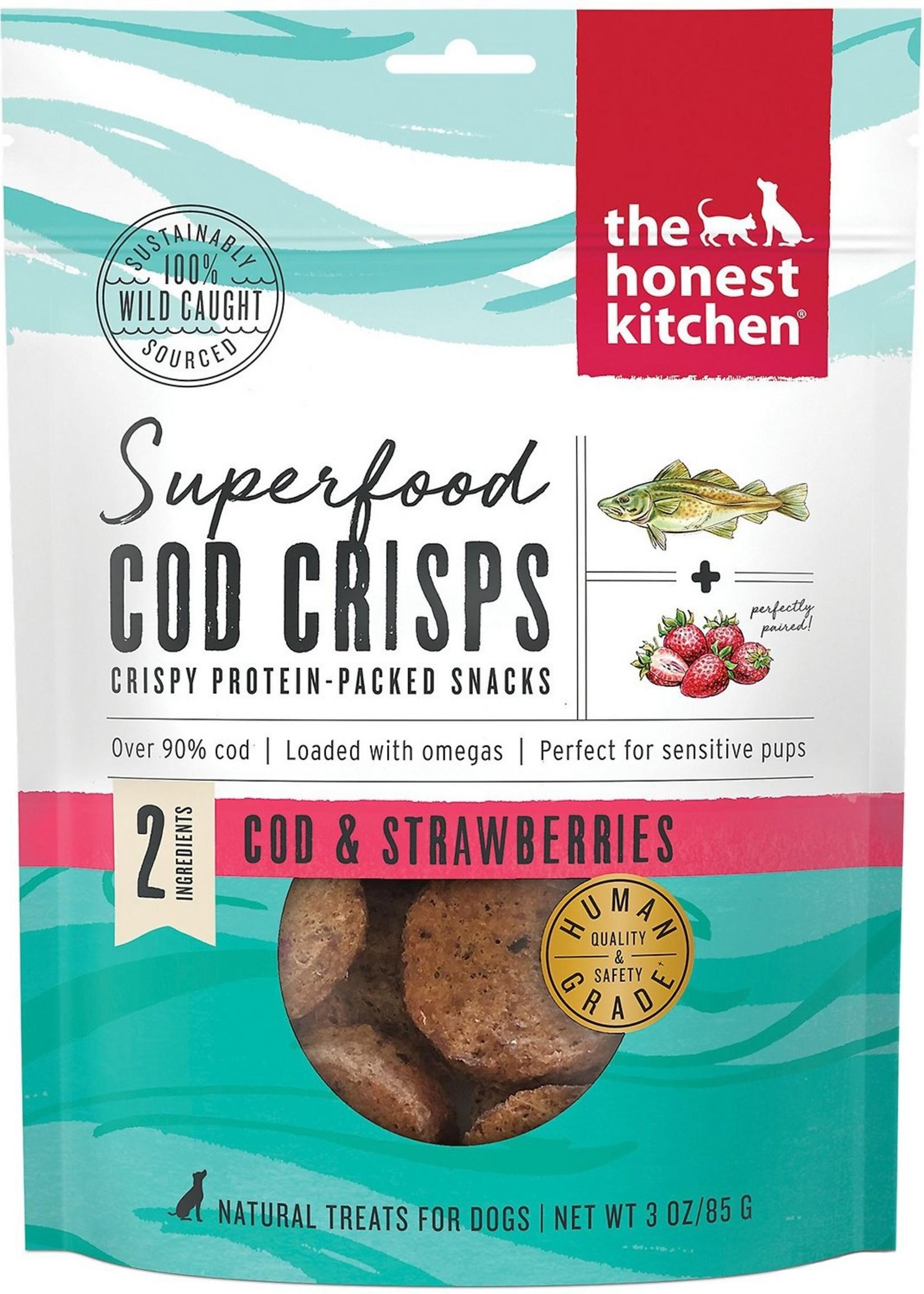 Honest Kitchen Honest Kitchen Dog Cod Crisps Grain Free Cod & Strawberry 3.5oz