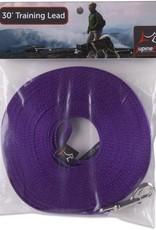 "LupinePet Lupine 3/4"" Purple 30' Gate Snap Training Leash"