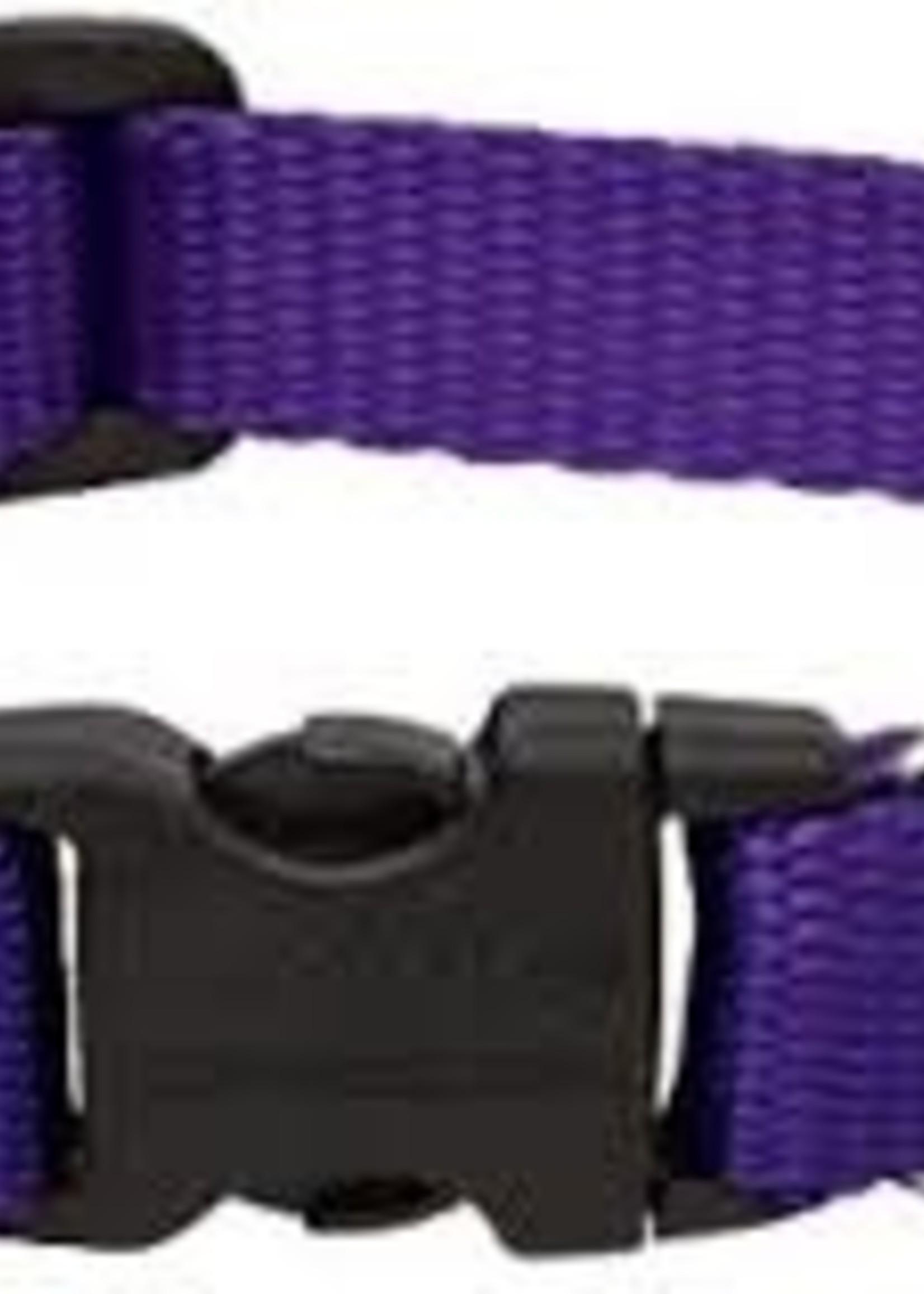 "LupinePet Lupine 3/4"" Purple 15""-25"" Adj. Collar"