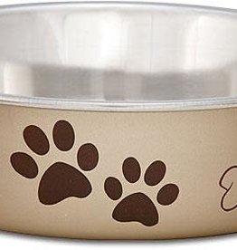 LOVING PETS CORP Loving Pets Metallic Bella Bowl Champagne Small