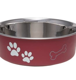 LOVING PETS CORP Loving Pets Bella Dish Classic Dog Dish Merlot Large