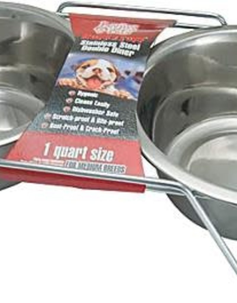 LOVING PETS CORP Loving Pets Double Diner Stainless Steel Pt.