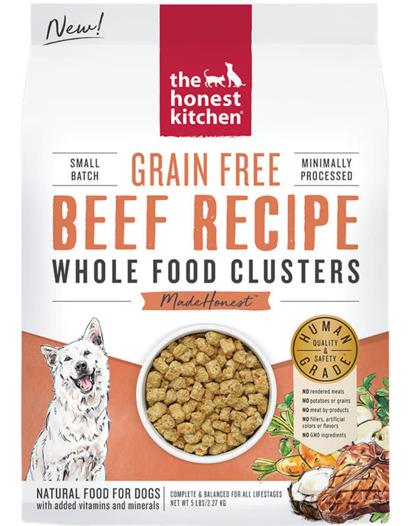 Honest Kitchen Honest Kitchen Whole Food Clusters Grain Free Beef 5 lbs