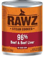 RAWZ RAWZ 96% Beef/Liver K9 12.5 OZ