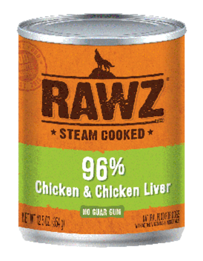 RAWZ RAWZ 96% Chicken/Liver K9 12.5 OZ
