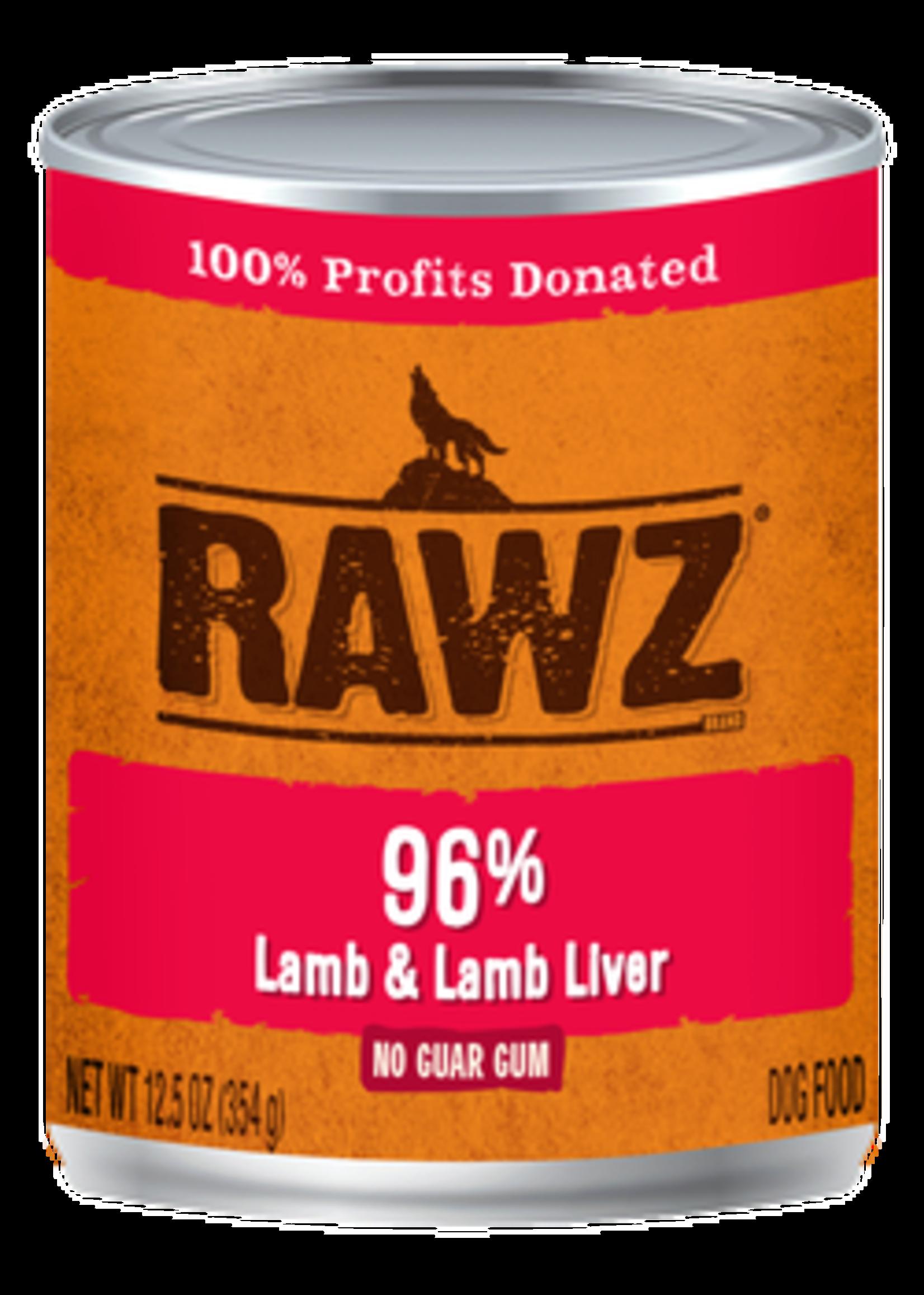 RAWZ RAWZ 96% Lamb/Liver K9 12.5 OZ