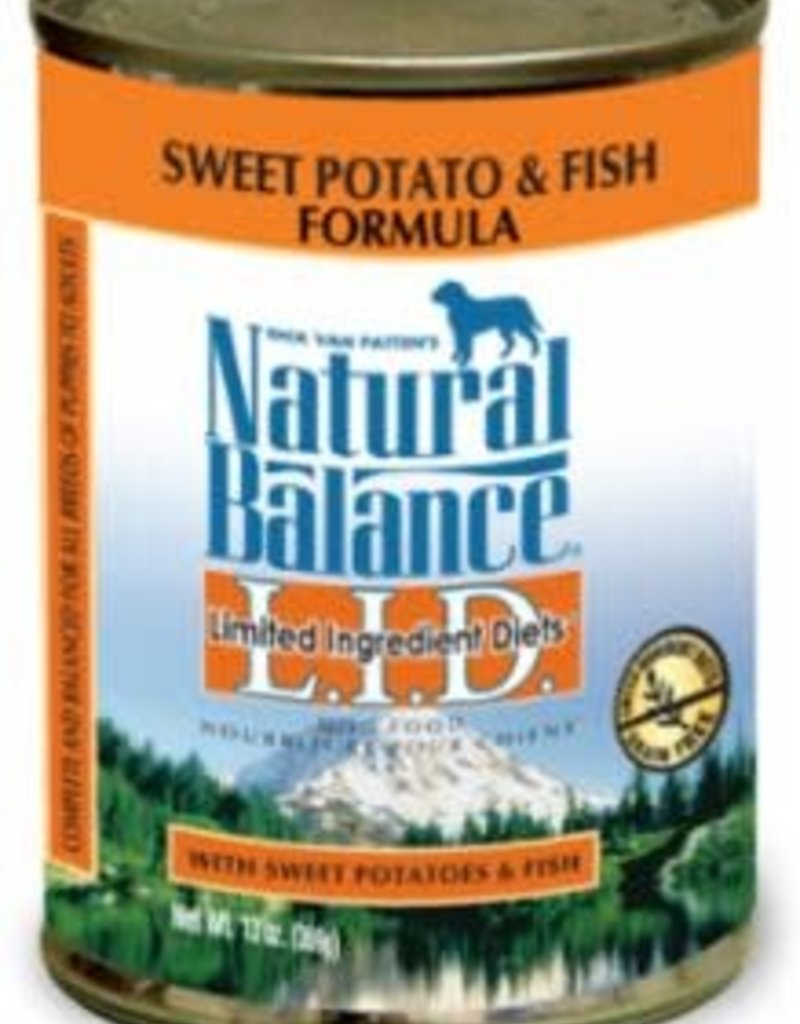 Natural Balance Pet Foods, Inc. Natural Balance LID Fish & Sweet Potato Can Dog Food 13 oz.